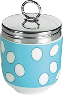 DRH Egg Coddler Blue Spotty For Easy Cook Meals and Ways To Cook Eggs In Porcelain Dish