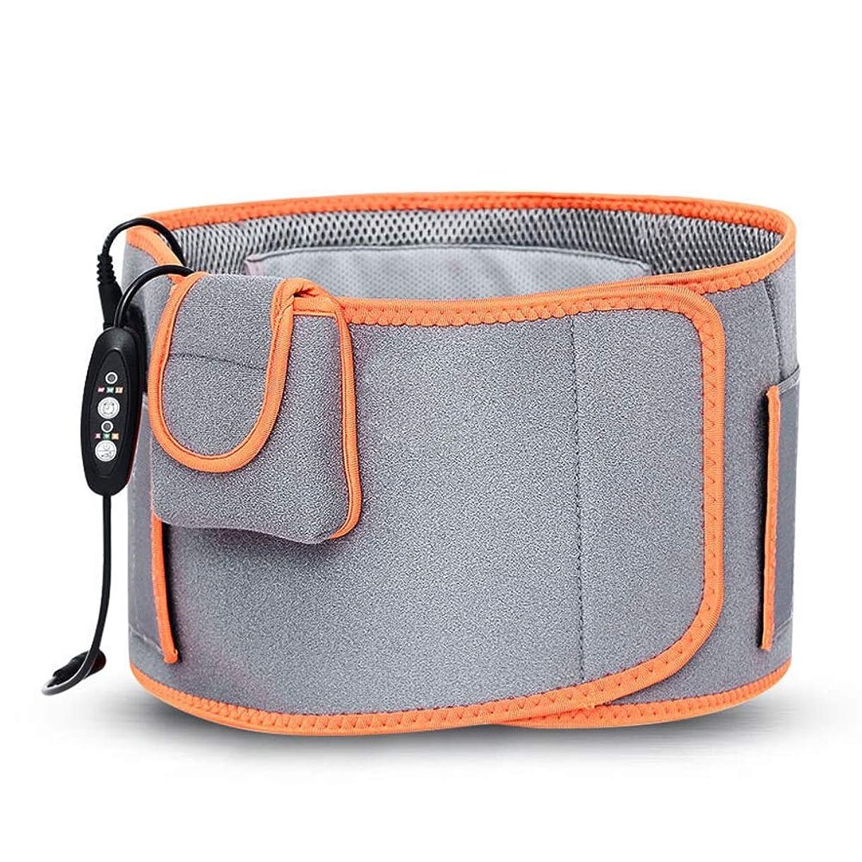 再生組み込むアレイウエスト暖房パッドヒートセラピーラップ温湿布のために腰のけいれんの痛みを軽減する傷害の回復 腰痛保護バンド (色 : グレー, サイズ : FREE SIZE)