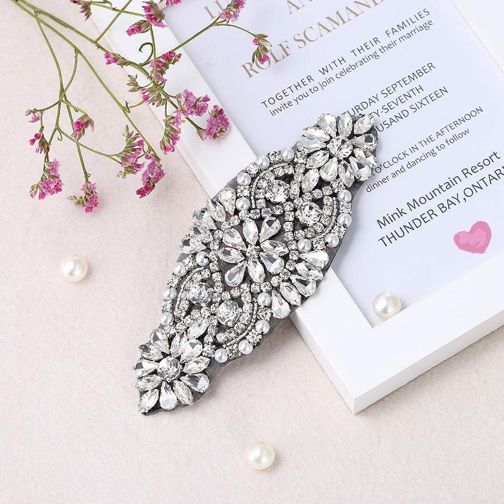 Rhinestone Applique for DIY Bridal Dress, Wedding- Accessories (Black)