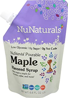Nunaturals, Syrup Nustevia Pourable Maple Pouch, 6.6 Ounce