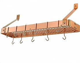 Old Dutch International Gridded 12-Hook Satin Copper Bookshelf Rack
