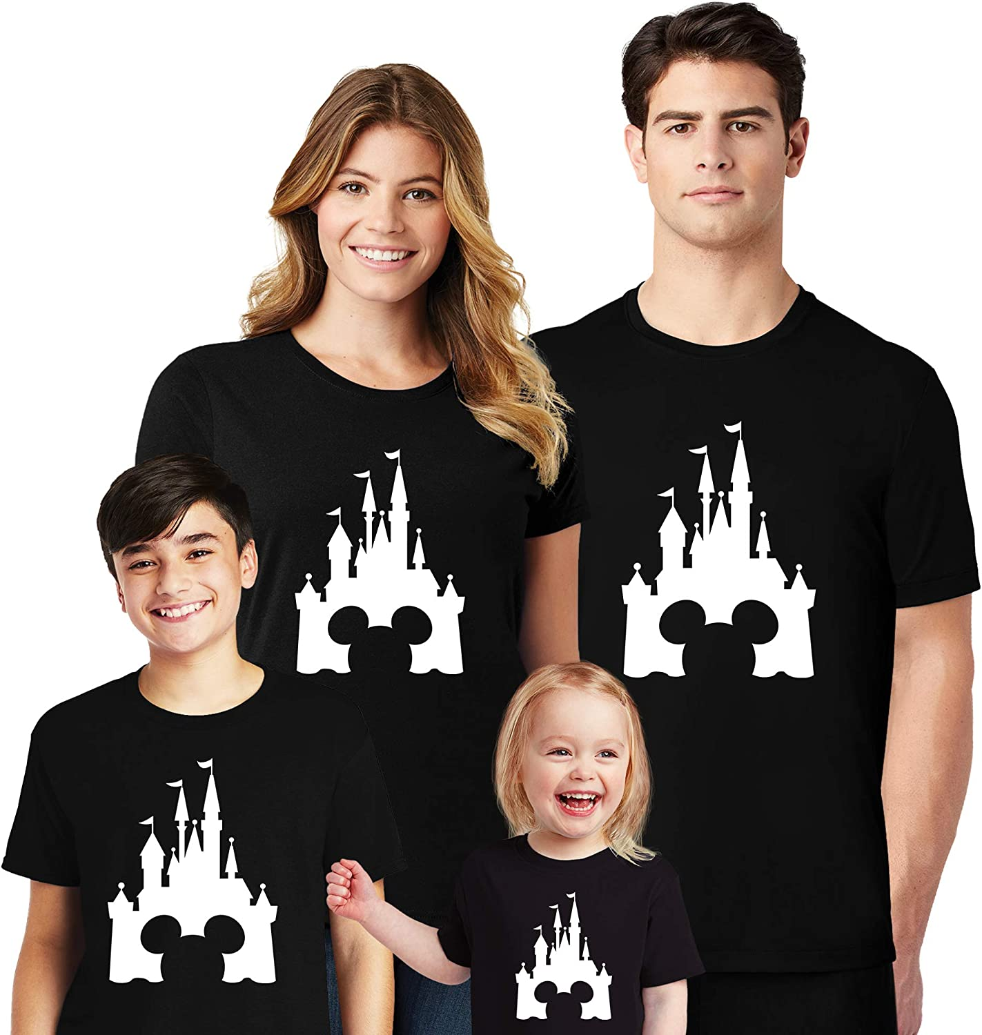 Natural Underwear Family Trip 2020 Castle Mickey Minnie Mouse Matching T-Shirts