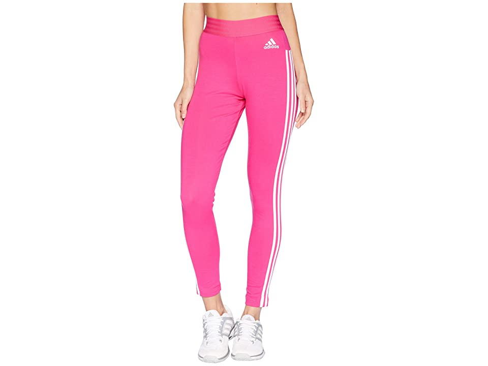 adidas Essential 3-Stripe Tights (Real Magenta/White) Women