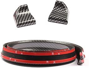 Rubber Strip Bar Wing Lip Trim Tailfin Tail Sticker Kit for Car Truck ALAVENTE Universal 4.9ft//1.5M Car Rear Roof Trunk Spoiler