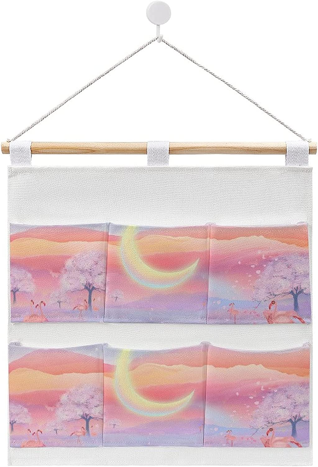 Beautiful Snow Scenery Hanging Max 62% OFF cotton and bag Challenge the lowest price stab linen storage