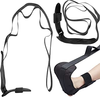 Sports Foot Stretching Strap Ligament Stretching Belt Foot Drop Strap with Loop Sports Ligament Stretching Training Belt S...