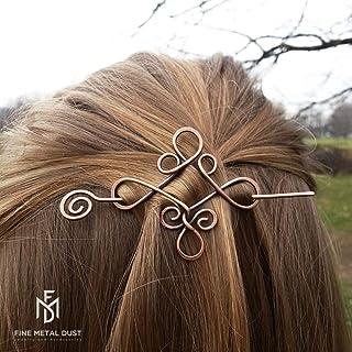 Spilla fermaglio barretta per capelli stile celtico - Fermacapelli in rame Fermaglio per capelli Spilla in metallo Accesso...