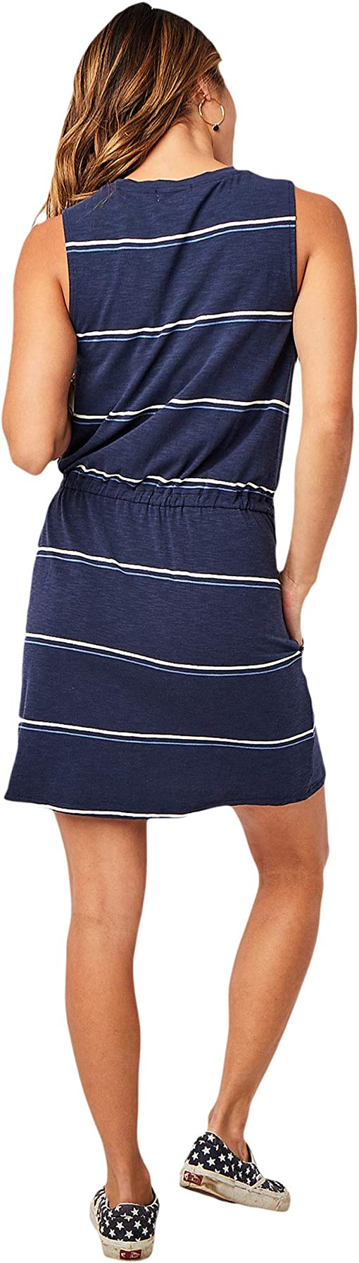 Navy Vintage Stripe