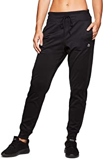 Active Women's Athletic Super Soft Lightweight Cuffed Tapered Fleece Jogger Sweatpants with Pockets