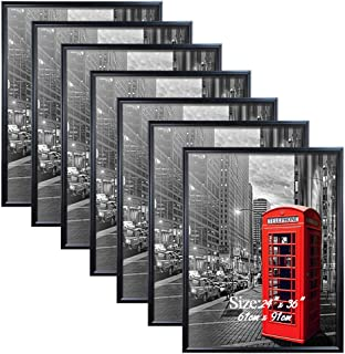 PETAFLOP 24x36 Poster Frame with Plexiglass Front Black Picture Frames for 24 x 36 inch Wall Art, 7 Pack