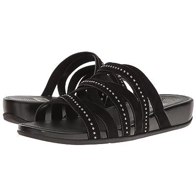 FitFlop Lumy Leather Slide w/ Studs (Black) Women