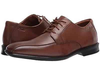 Clarks Bensley Run (Dark Tan Leather) Men
