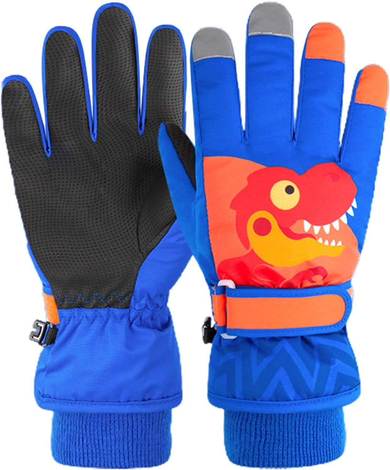 Olaf Trading Ski Waterproof Gloves Winter Velvet Thick Warm Cute Cartoon Student Riding Gloves Outdoor Cold Gloves