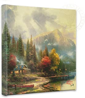 Thomas Kinkade - End of a Perfect Day III Open Edition Wrapped Canvas