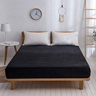 Premium Quality Plain Fitted Sheet, Soft & Cosy Fleece Bed Linen, Kingsize Bedsheet,150x200cm+26cm