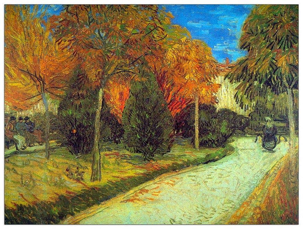 ArtPlaza TW90822 Van Gogh Vincent - Public Park Decorative Panel 35.5x27.5 Inch Multicolored