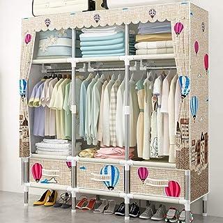 CXVBVNGHDF Armoires en Tissu Armoire Pliable Portable, avec tiges de Suspension, Organisateur de Rangement de vêtements à ...