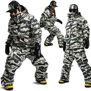 SOUTH PLAY Ski Snowboard Wear Suit Parka Jacket+Pants Trousers SET CAMO