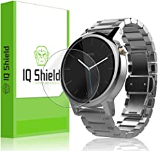 IQ Shield Screen Protector Compatible with Motorola Moto 360 42mm (2nd Gen 2015)(6-Pack) LiquidSkin Anti-Bubble Clear Film