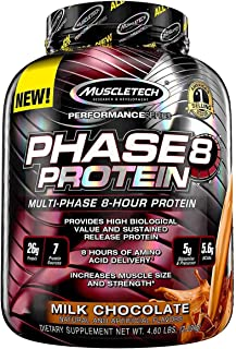 MuscleTech Phase8 Whey Protein Powder Blend, Sustained Release 8-Hour Protein Shake, Milk..