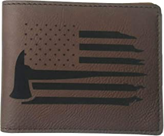 Firefighter Flag Wallet Leatherette - Fire Axe