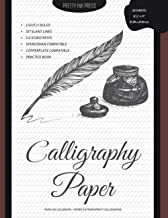 Calligraphy Paper - Practice Book: 60 Lightly Ruled Sheets in 3:2:3 Ratio with 55 Degrees Slant Lines for Hand Lettering, ...