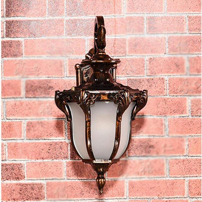 Willlly Wandleuchte Retro Garten Im Freien Balkon Balkon Wohnzimmer Gang Villa Wasserdichte Beleuchtung Lampe (Farbe   Colour-Größe)