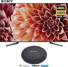 Sony XBR65X900F 65-Inch 4K Ultra HD Smart LED TV (2018 Model) with Google Home Mini (Charcoal)