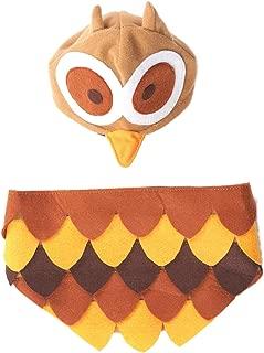Ethical Fashion Pet Owl Costume Cozy Elastic Head Piece Soft Wear Medium/Large