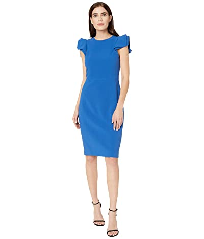 Halston Slim Fit Dress (Cobalt) Women