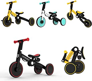 3 in 1 Toddler Bike Kids Tricycle Children Balance Bicycle Push Bike Pedal Trike Training Removable Pedals Lightweight Por...