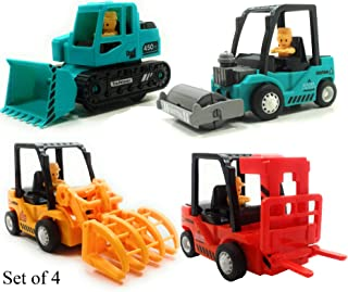 SaleON DieCast Unbreakable Friction Powered Construction Toys for Kids (Set of 4) -1224