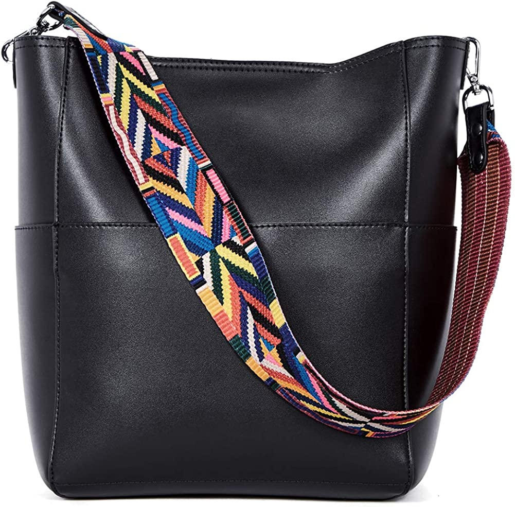 BROMEN Women Handbags Leather Shoulder Bags Designer Hobo Bucket Bag Crossbody Purses