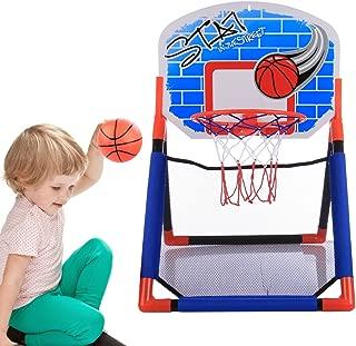 Tosbess Mini Juego de Baloncesto con Tablero Bola y Bomba Canasta Interior de Baloncesto para Niños,65*46*44cm