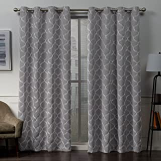 Exclusive Home Curtains Amelia Panel Pair, 52x96, Gray Mist