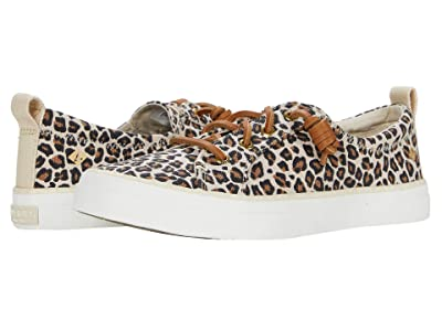 Sperry Crest Vibe Animal Print Textile (Tan/Black) Women