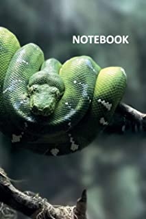 Notebook: Emerald tree boa Nifty Composition Book Daily Journal Notepad Diary Student for researching captive bred emerald tree boas for sale
