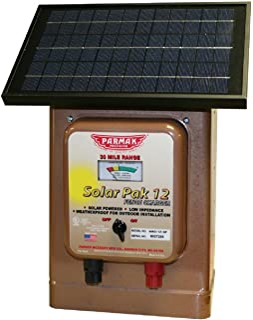 Parmak Magnum Solar-Pak 12 Low Impedance 12 Volt Battery Operated 30 Mile Range Electric..
