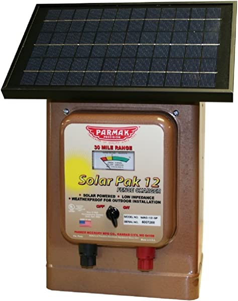 Parmak Magnum Solar Pak 12 Low Impedance 12 Volt Battery Operated 30 Mile Range Electric Fence Charger MAG12 SP