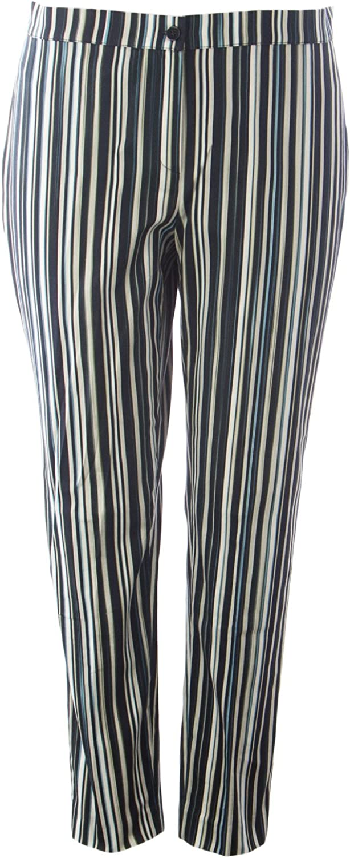 Marina Rinaldi Women's Riccardo Barcode Stripe Pants Multicolord