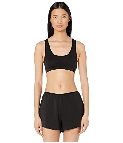 Skin Solange Pima Cotton Crop Top (Black) Women