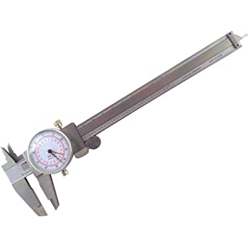 """Anytime Tools Dial Caliper 6/"""" 150mm DUAL Reading Scale METRIC SAE Standard ..."""