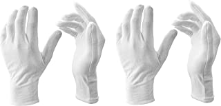 G3E Men's Cotton Gloves (White;Free Size) Pack of 2 Pair