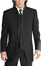 Lilis Men's 3 Pieces Suits for Wedding Pure White Collar Tuxedo Jacket Vest & Trousers