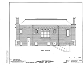 Historic Pictoric Blueprint Diagram HABS IND,49-IND,31- (Sheet 5 of 6) - Indianapolis Public Library, 2822 East Washington Street, Indianapolis, Marion County, in 14in x 11in