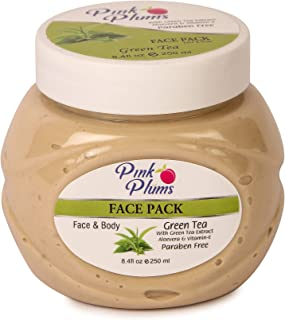 PINK PLUMS Glowing Green Tea Facepack with Vitamin-E, 250 ml