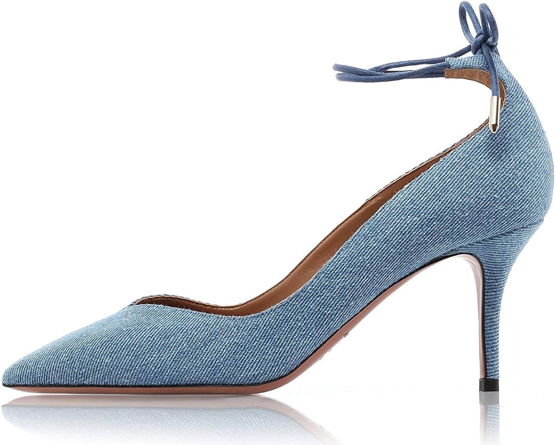 Nansay Woherrar skor Big Storlek Storlek Storlek Anpassa High klackar Pointed Toe Ladies skor Solid Ankle Strap Pumpar  väntar på dig
