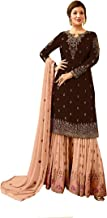 DELISA Ready Made New Designer Indian/Pakistani Sharara Style Salwar Suit for Women Fiona