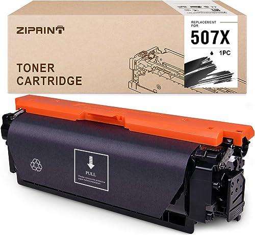 wholesale ZIPRINT Compatible Toner Cartridge Replacement for HP 507 outlet online sale CE400X 507A 507X to use with Laserjet Enterprise 500 Color M570dn M551dn M551n M551xh M575dn M575f new arrival M575c (Black, 1 Pack) outlet online sale