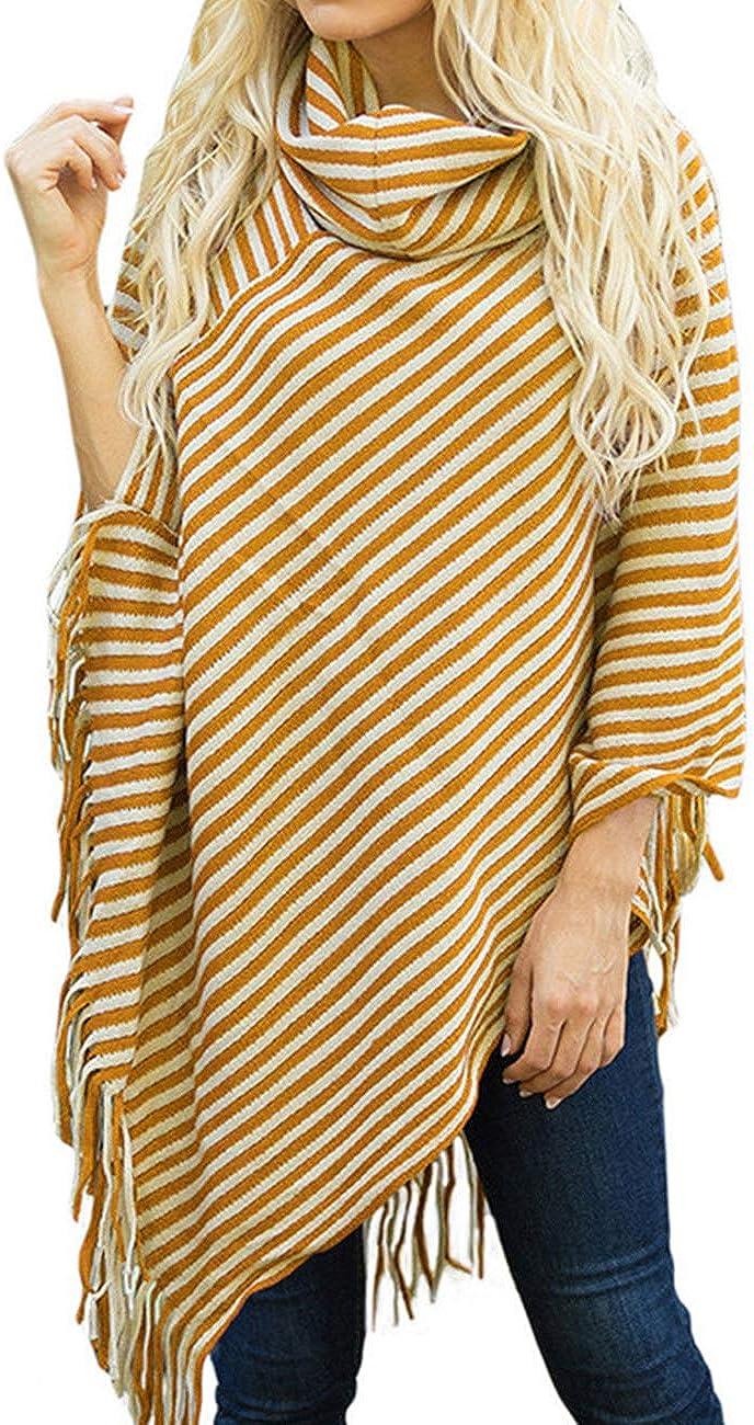 Eudora boho wear striped poncho loose knit poncho green stripes poncho poncho cover up sweater poncho Teal blue poncho teal wrap